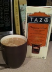 Warm chai latte at home