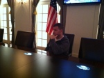 Justin in the Cabinet Room