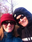 Bundled up for our hike!