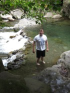 Cooling off in the river!