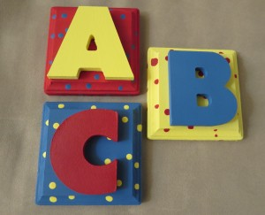 ABC letters - perfect for a child's room, play room or class room!