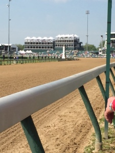 Beautiful Churchill Downs track waiting for the horses.
