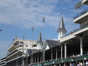Twin spires of Churchill Downs