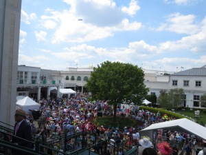 The crowd near the grandstands.